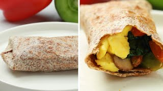 Freezer-Prep Veggie Breakfast Burritos