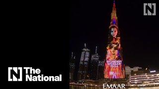 Wonder Woman on Burj Khalifa