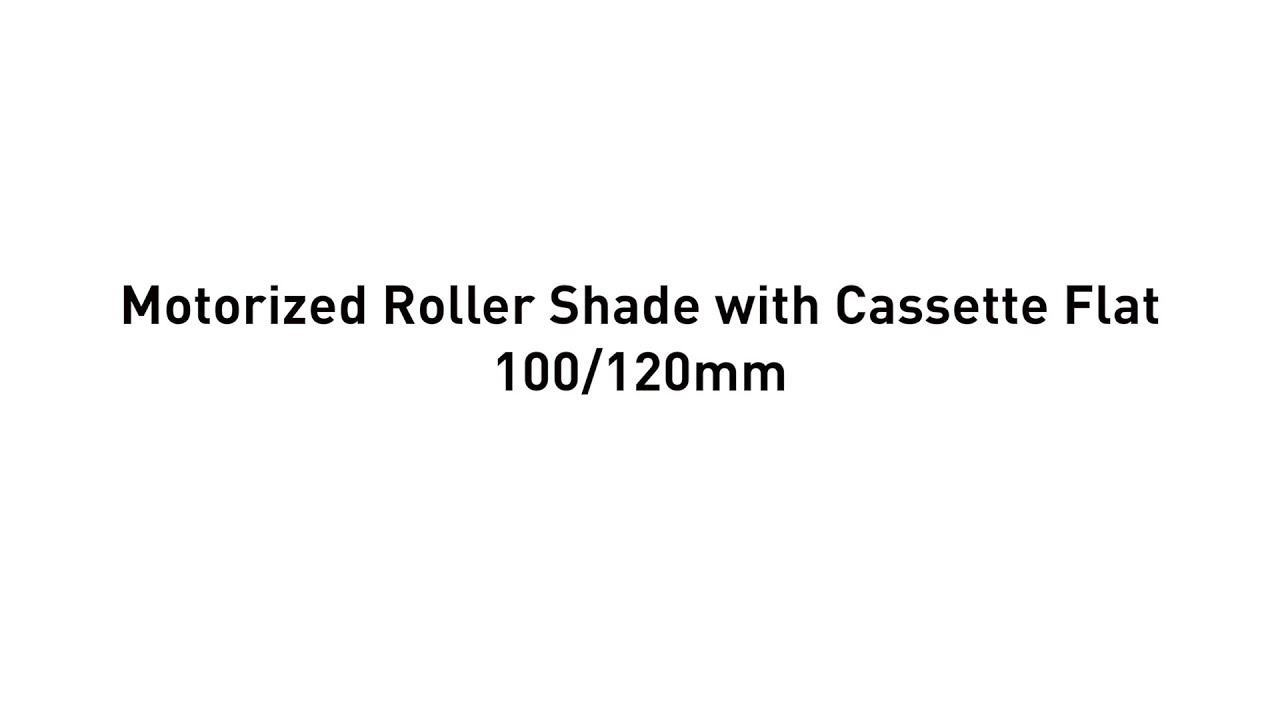 Installation - Motorized Roller Shade with Cassette Flat