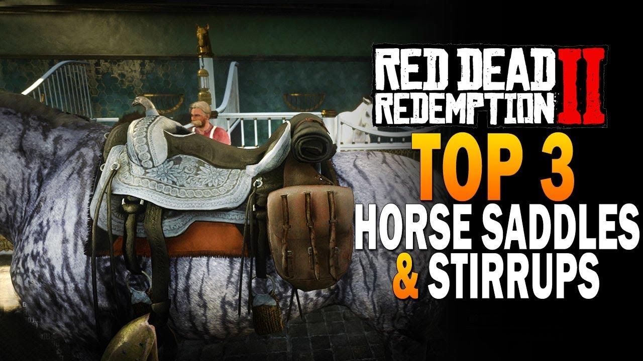 Top 3 Horse Saddles & Stirrups! Red Dead Redemption 2 Best Saddles [RDR2]