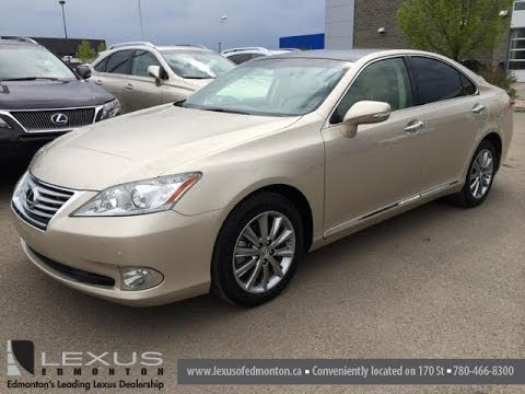 Pre Owned Gold 2012 Lexus ES 350   Ultra Premium Package 2 W/ Navigation    Sherwood Park, Edmonton