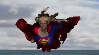 Supergirl Flying