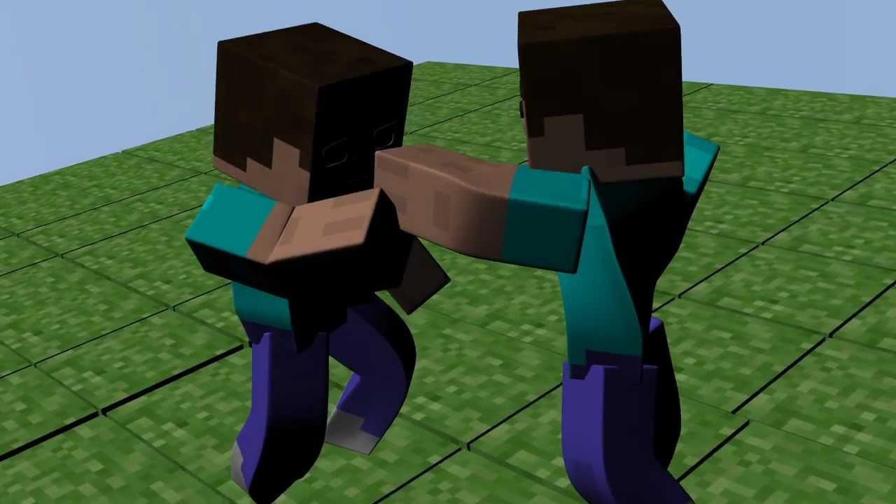Steve Vs Herobrine Minecraft Animation - YouTube