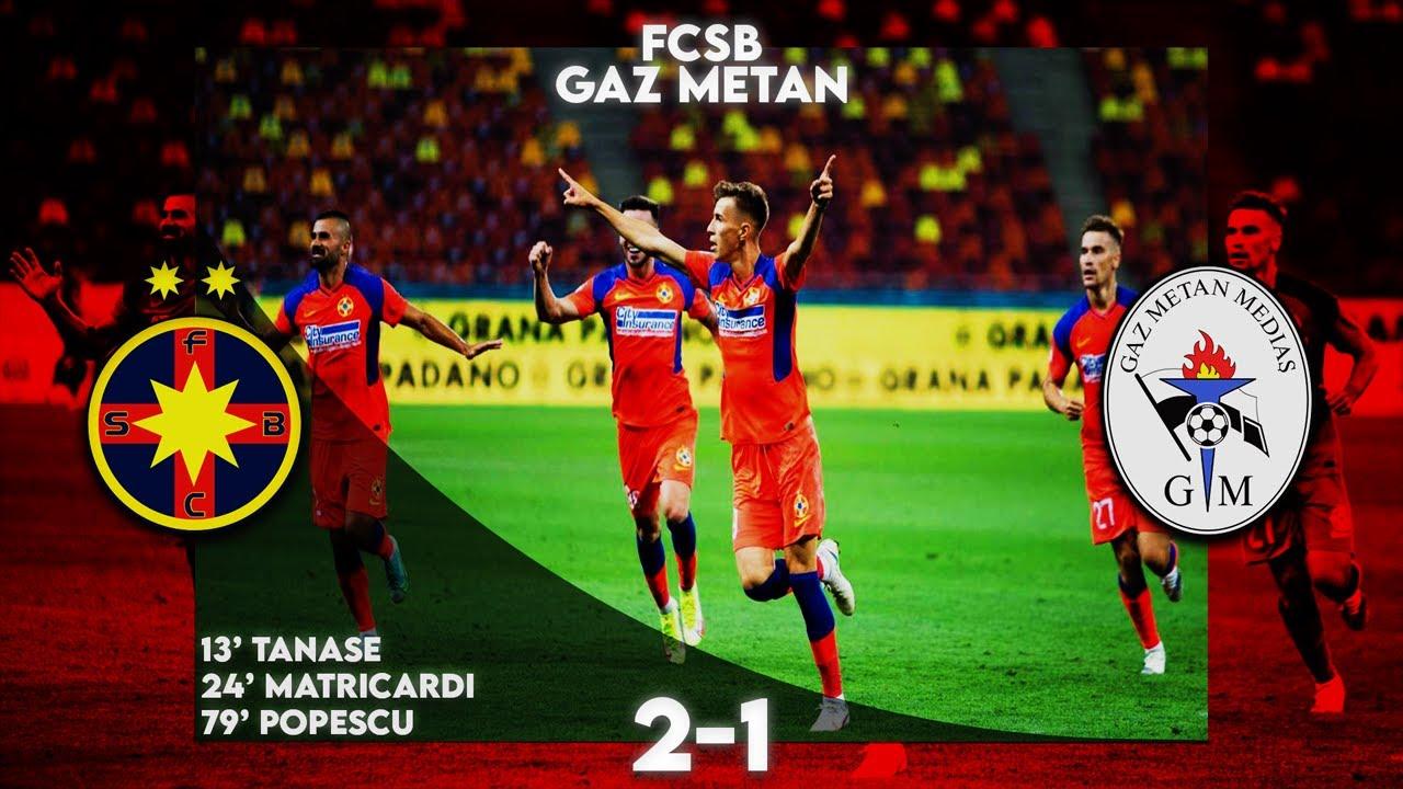 REZUMAT FCSB - Gaz Metan 2-1. Octavian Popescu a marcat golul victoriei. Vinicius, debut la FCSB