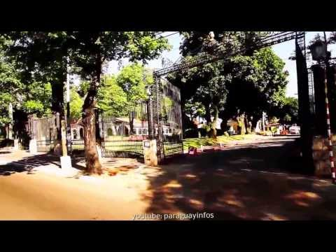 Tourist 2013 Video Paraguay capital Asuncion car drive into the town