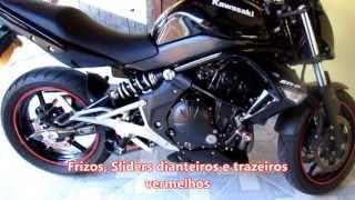 Kawasaki Er-6n 2012 - Som do escapamento esportivo X-Race Pro