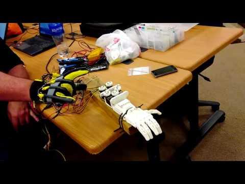 Data Glove and Robot hand