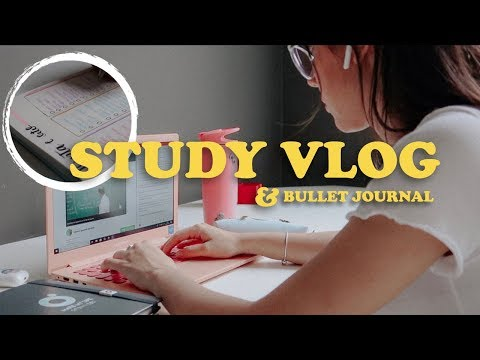 STUDY VLOG & BULLET JOURNAL || Luana Carolina