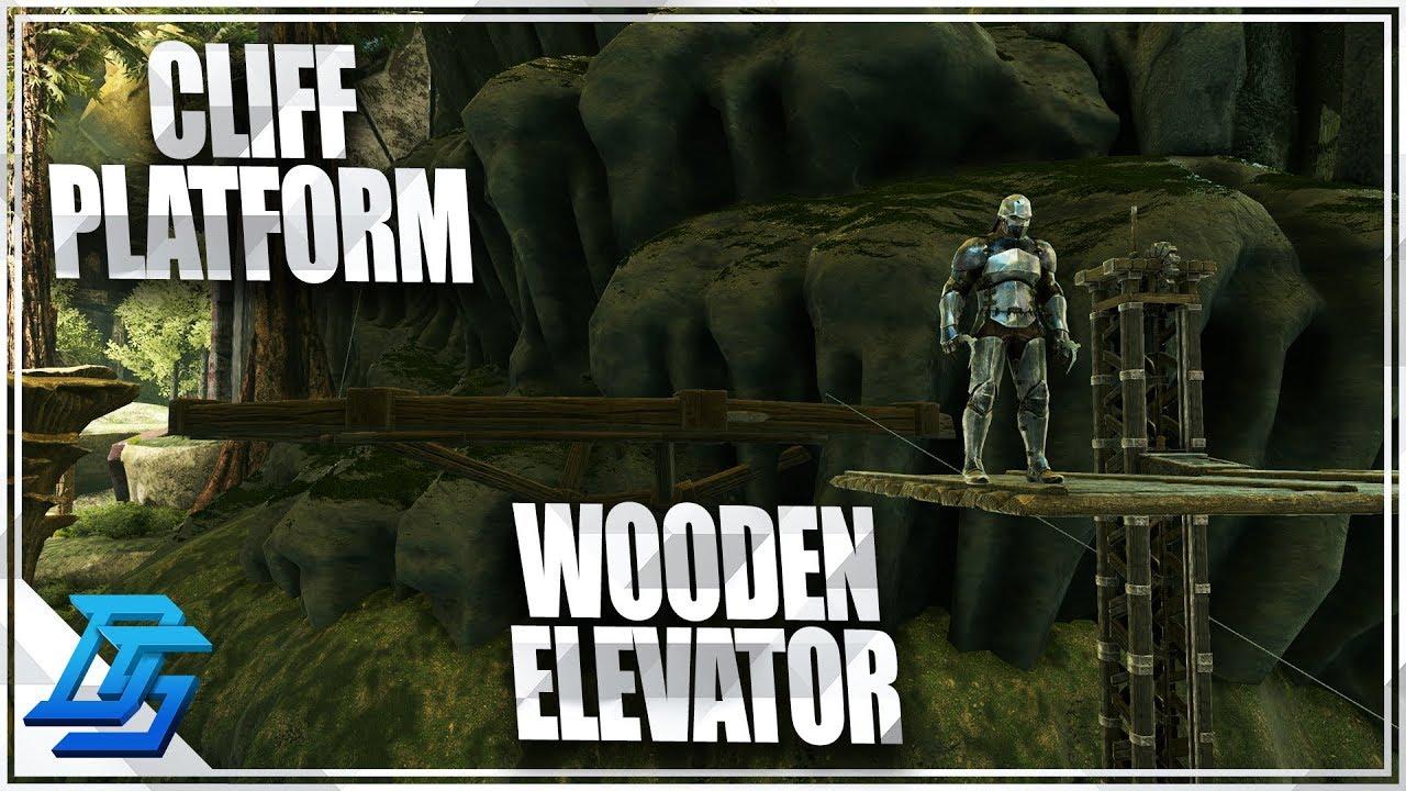 Ark Wood Elevator how to build cliff platforms, ziplines & wood elevators!- ark survival  evolved - part 6 (aberration)