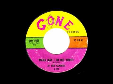 Jo Ann Campbell-Mama (Can I Go Out Tonight) 1959 Gone 45-5055.wmv