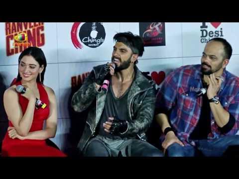 Ranveer Singh And Tamannaah Bhatia At Ranveer Ching Returns Ad Launch | Rohith Shetty | Mango News