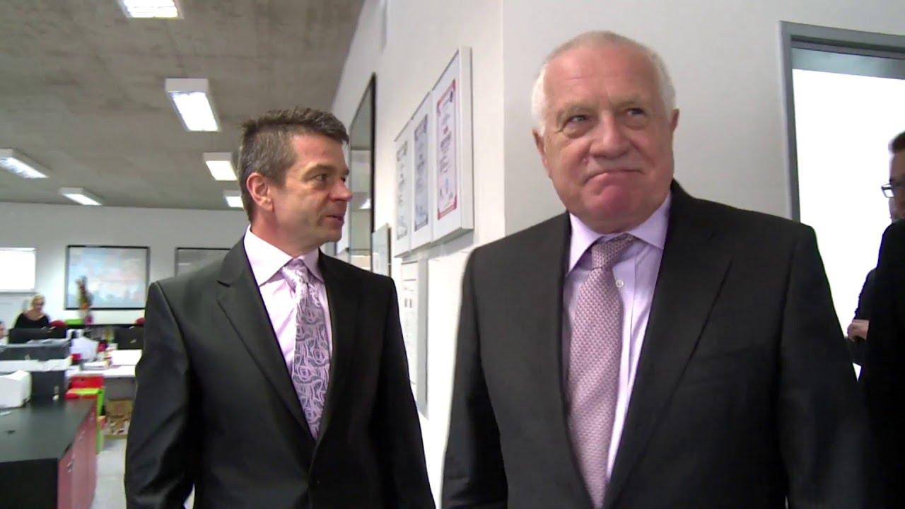 Václav Klaus v MOSS logistics v Hustopečích