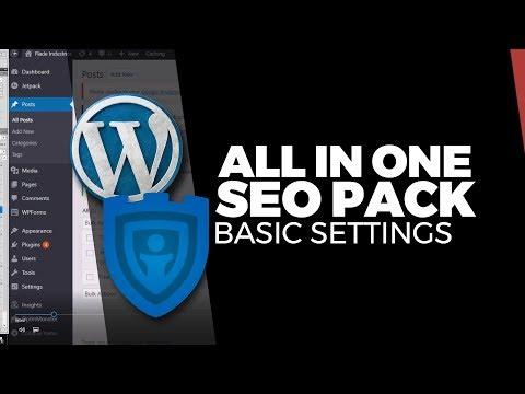 Basic Starter Settings for the All in One SEO Pack (using WordPress)
