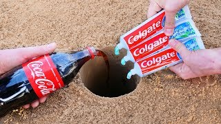 Experiment: Coca-Cola and Toothpaste Underground