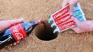 Experiment: Coca-Cola and Toothpaste Underground