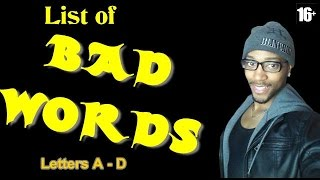 List Bad Words English