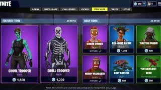 OG SKINS RETURNING to Fortnite! *PROOF* - Skull Trooper, Ghoul Trooper, & Ginger Bread in ITEM SHOP