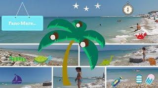 Fano beach in le Marche Riviera Italy.  Mare Fano !