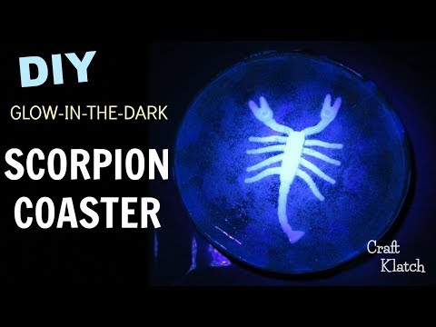 Glow In The Dark Scorpion Resin Coaster | Another Coaster Friday | Craft Klatch | Halloween Crafts
