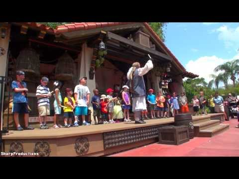 Captain Jack Sparrow's Pirate Tutorial (Full Show) Disney World's Magic Kingdom