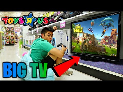 "TOYS R US FORTNITE FORT! (65"" INCH T.V.)"