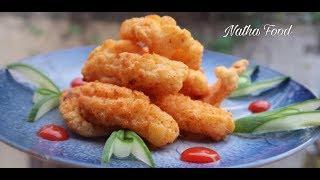 Snack mực vị tôm hạnh nhân, ăn bao ghiền || Mực chiên giòn rụm || Natha Food