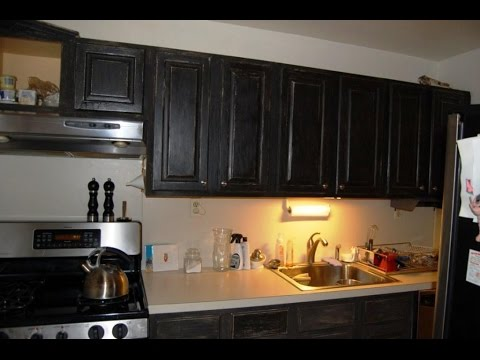 Chalk Paint Cabinets Distressed Youtube