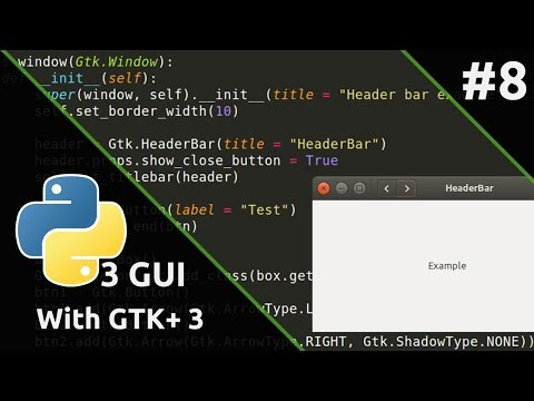 Python3 GUI with GTK+ 3 #8 แต่ง Title Bar