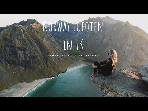 Beautiful Lofoten Norway  Arctic Circle AERIAL DRONE 4K VIDEO Composed by Floatwithme