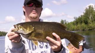 bobber fishing smallmouth bass ely minnesota bwca