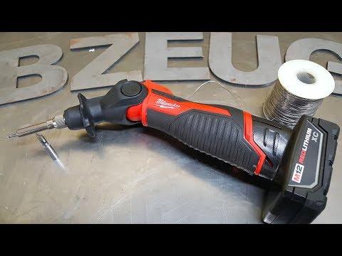 Milwaukee M12 cordless soldering iron tool review