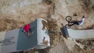 Ripping in a Dried Riverbed | BMX Riverbed Trails