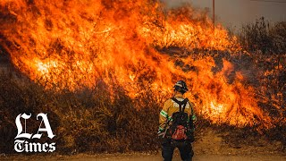 Firefighters battle to save Reagan Library