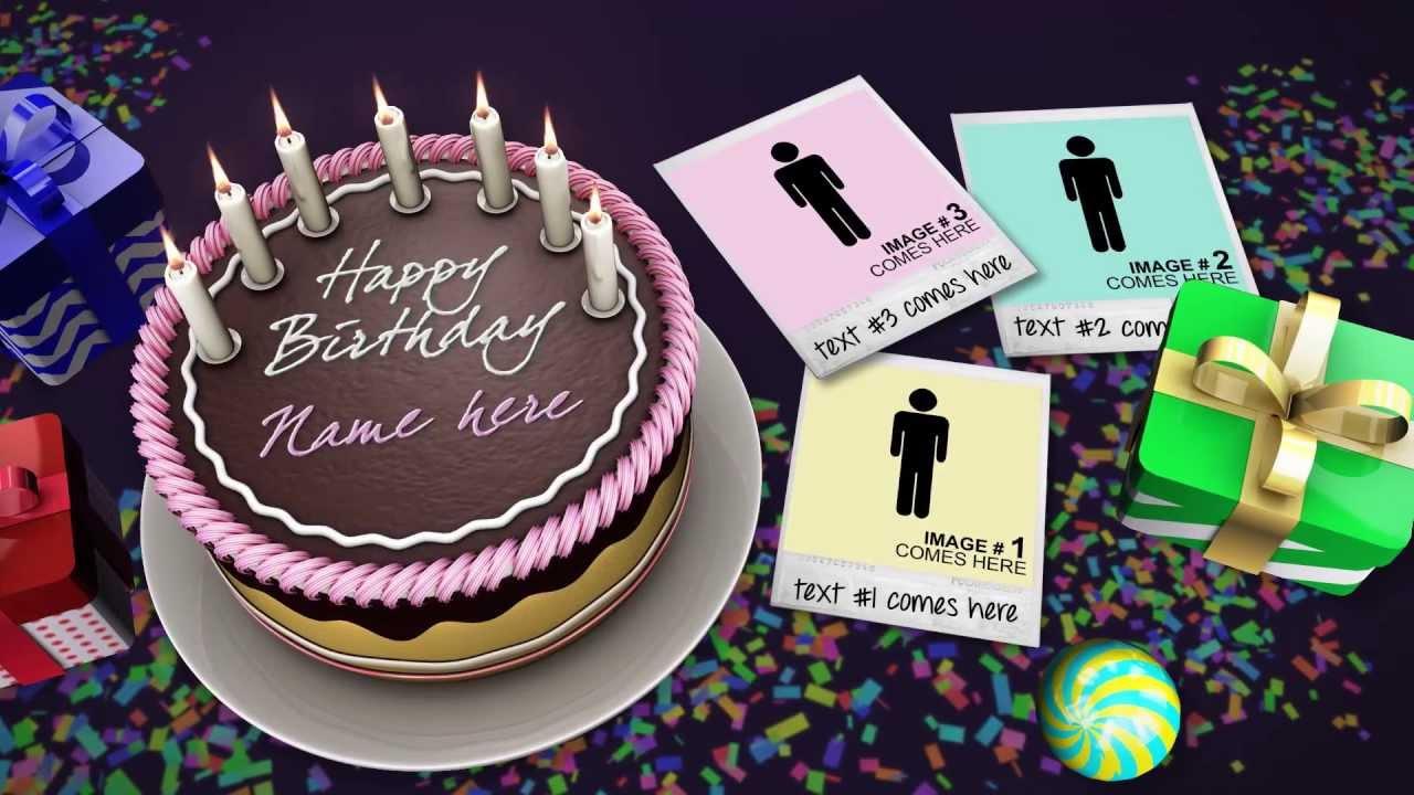 Happy Birthday Cake Photo Effects