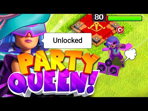 UNLOCKED PARTY QUEEN IN CLASH OF CLANS. CLASH OF CLANS NEW EVENTS.