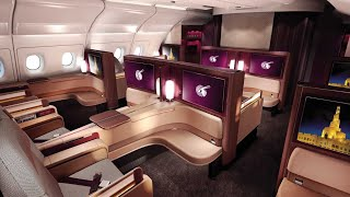Qatar Airways A380 First Class Doha to Paris (+Al Safwa lounge)