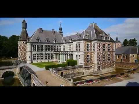 Le Château de Jehay en Province de Liège - Images d'un drone