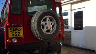 2002 Land Rover 110 Defender 2.5 Td5 Van In Red With Side Windows SN52SSZ