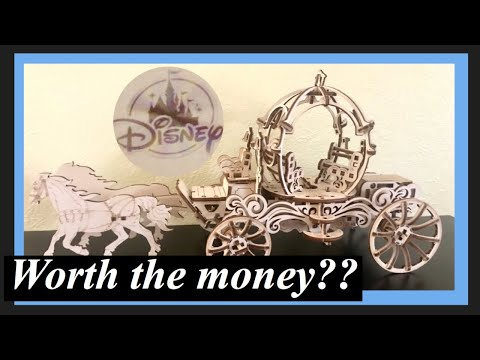 CINDERELLA'S CARRIAGE BY UGEARS ASSEMBLY + REVIEW | DISNEY PARKS MERCHANDISE