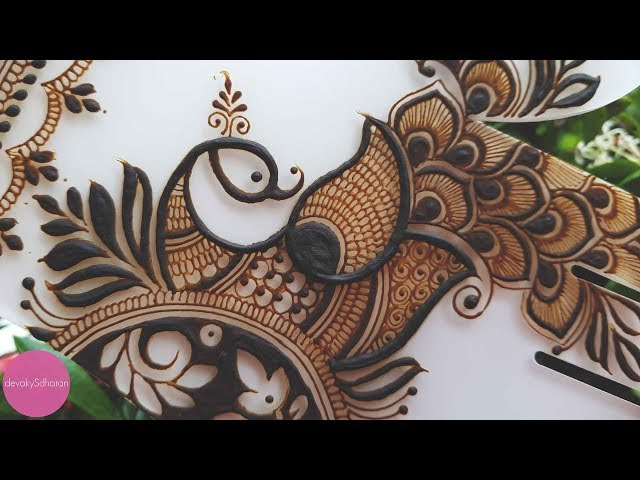Peacock henna/mehendi design| Henna tutorials, classes and lessons by Devaky S Dharan