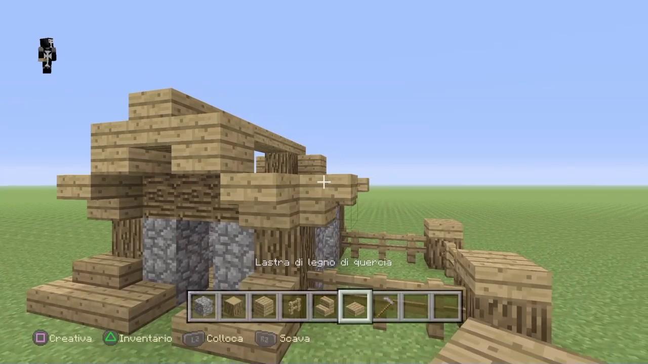Lastra Di Legno Minecraft : Minecraft tutorial casa piccola e semplice youtube