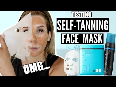 Self-Tanning FACE MASK Tested! WTF... Does it WORK?