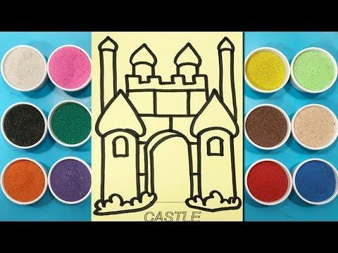 Đồ chơi trẻ em TÔ TRANH CÁT LÂU ĐÀI HUYỀN BÍ - Sand painting the castle toys kids (Chim Xinh)