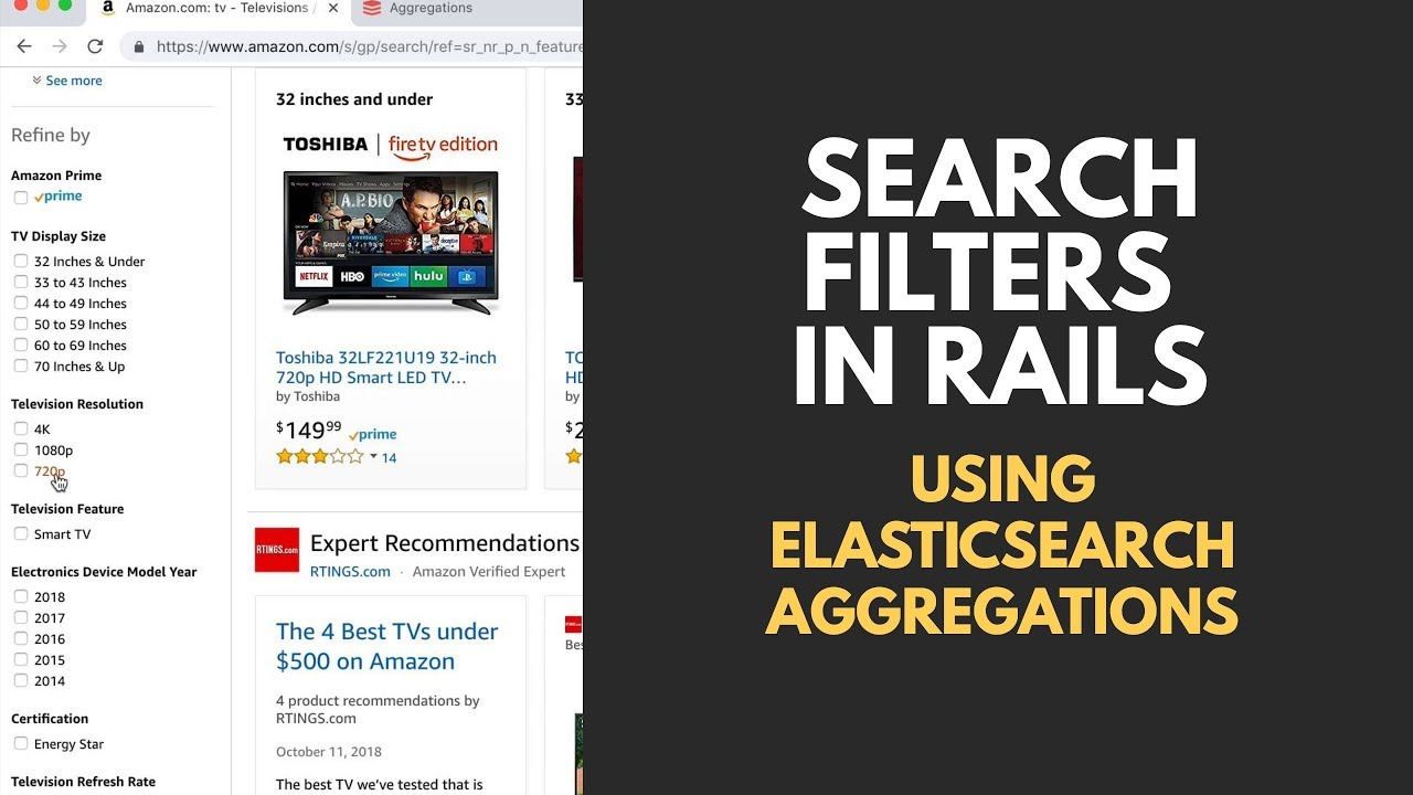 Search Filters with ElasticSearch Aggregations (Example