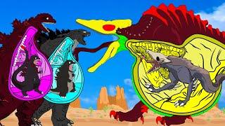 Godzilla, Shin Godzilla PREGNANT  Vs Skullcrawler PREGNANT   Godzilla Cartoon Animation