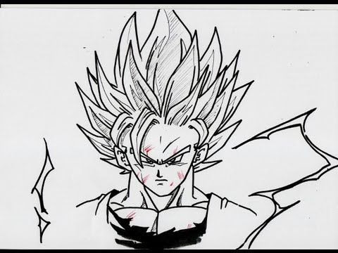No 643 how to draw goku super saiyan 2 超サイヤ人 ツー 孫悟空