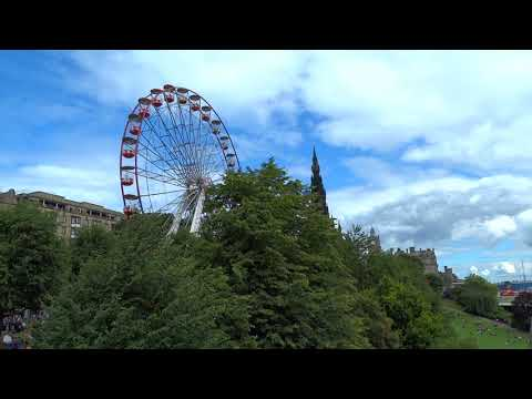 Ferris Wheel East Princes Street Gardens Festival Fringe Edinburgh Scotland