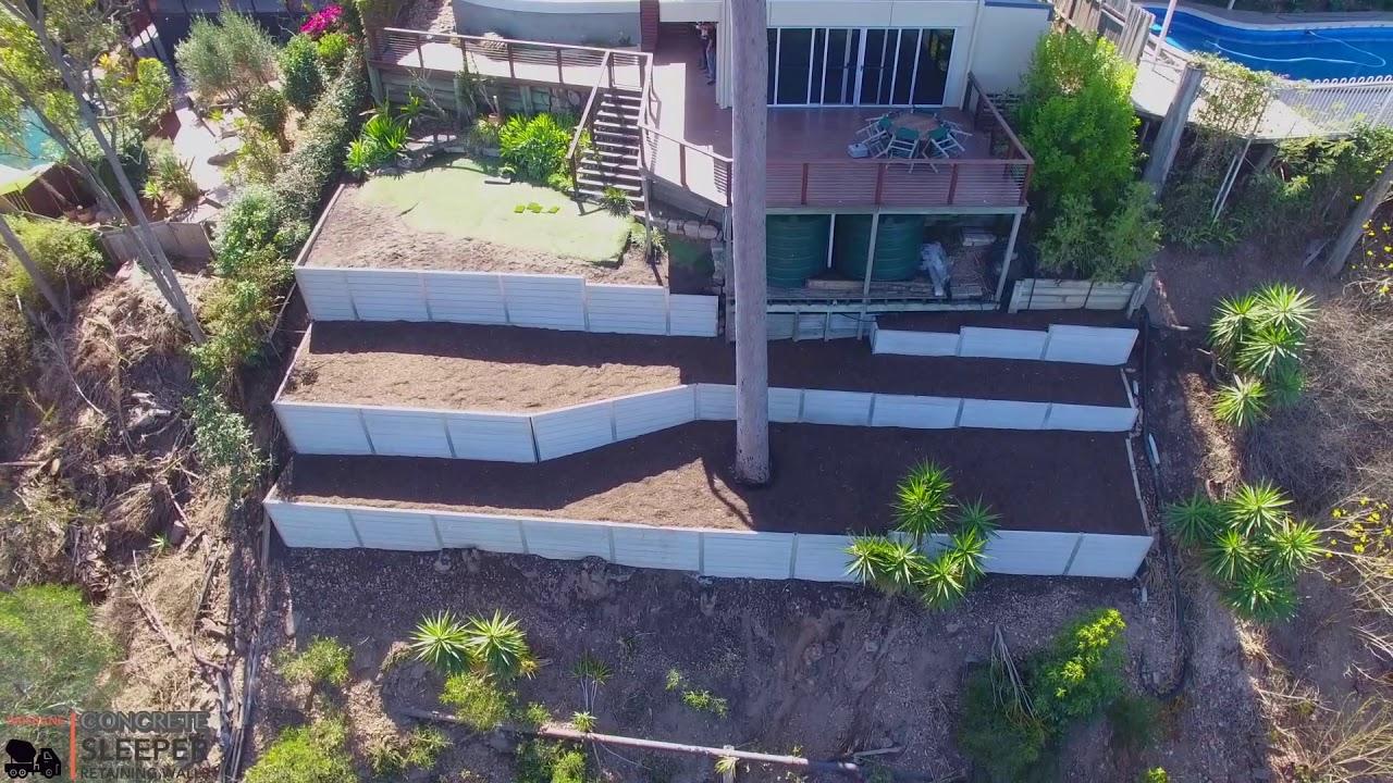 Retaining Walls For Sloping Blocks   Concrete Sleeper Retaning Wall