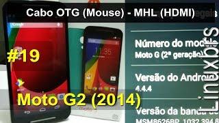 Motorola Moto G2 (2014) Cabo OTG (Mouse) e MHL (HDMI) - PT-BR - Brasil