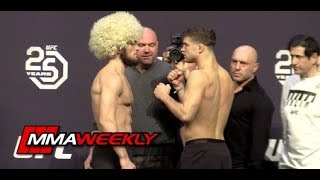 UFC 223 Ceremonial Weigh-Ins: Khabib Nurmagomedov vs. Al Iaquinta